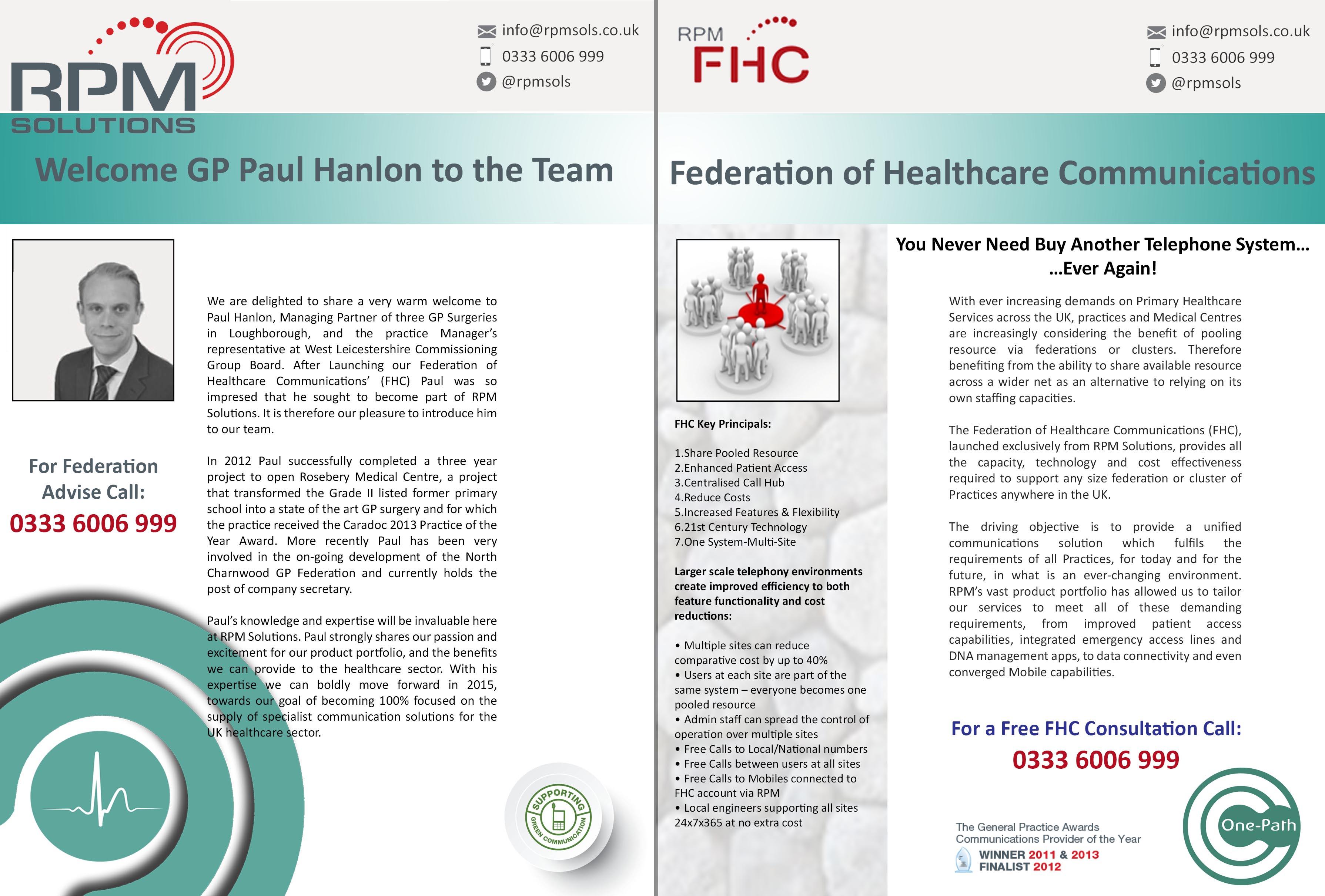 Paul Hanlon Federation One-Path